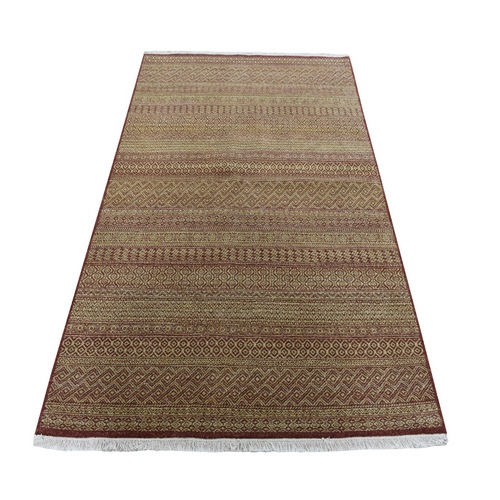 On Clerance Hand Knotted Grass Design Modern Gabbeh Pure Wool Oriental