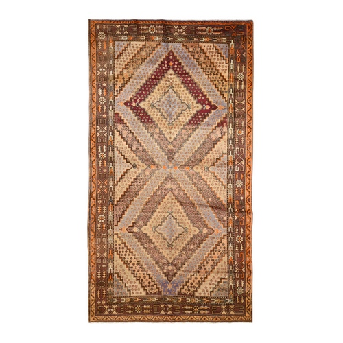 Gallery Size Antique Khotan Full Pile Hand Knotted Oriental Rug