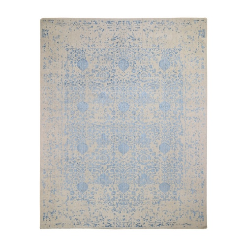 Hand Loomed Broken Mughal Design Tone on Tone Oriental