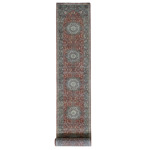 Hand Knotted XL Runner Antiqued Tabriz Haji Jalili Re-Creation Oriental