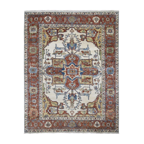 Heriz Revival Pure Wool Hand Knotted Oriental