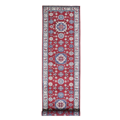 Red Gallery Size Kazak Tribal Design Hand Knotted Oriental