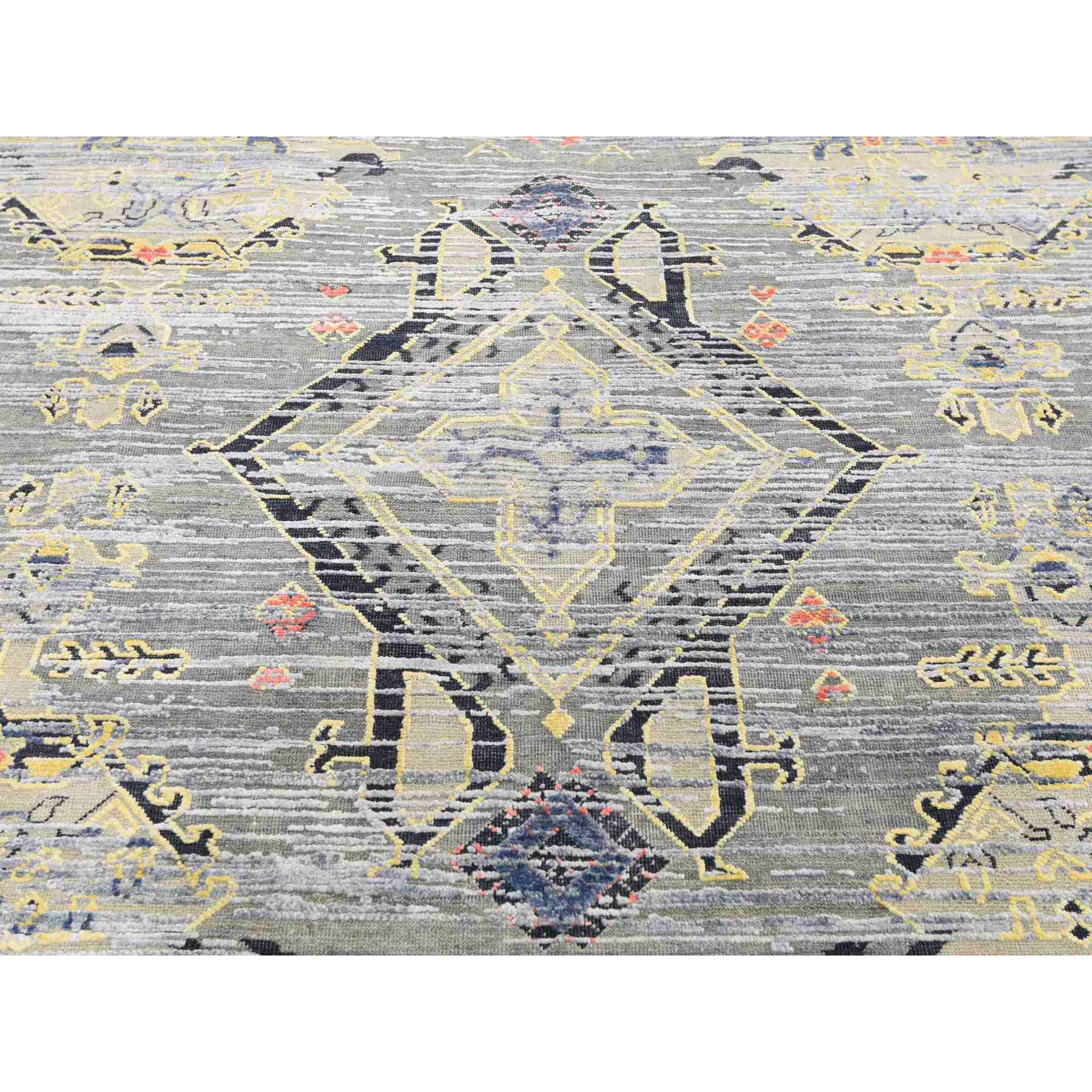 Oushak-And-Peshawar-Hand-Knotted-Rug-242605