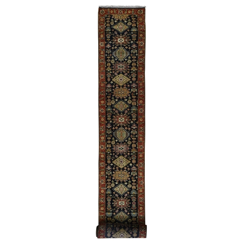 Karajeh Design Xl Runner Pure wool hand Knotted Oriental Rug