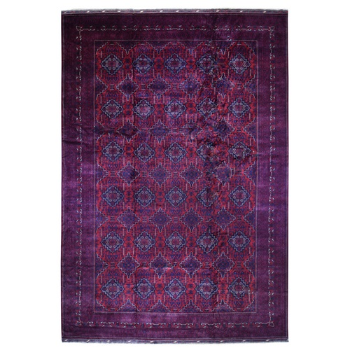Oversized Vegetable Dyes Afghan Khamyab Hand Knotted Oriental