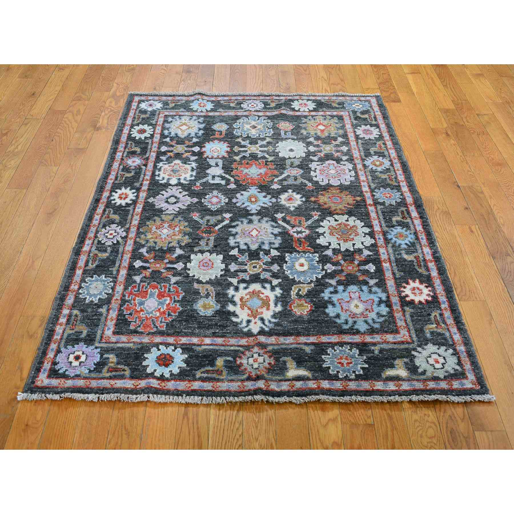 Oushak-And-Peshawar-Hand-Knotted-Rug-245995