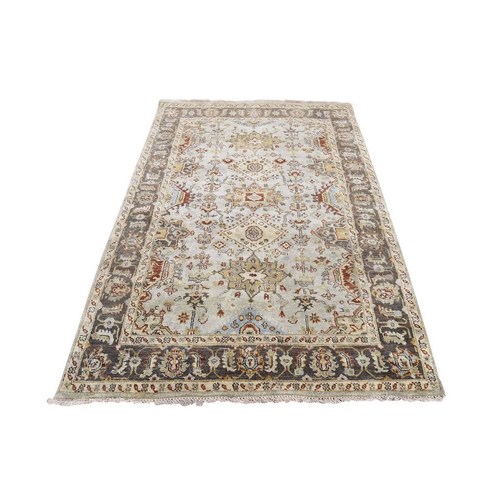 Gray karajeh Design Pure Wool Hand knotted Oriental Rug
