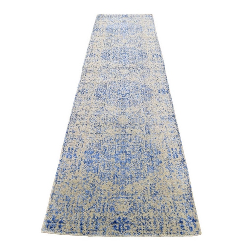 Wool And Silk Mamluk Design Jacquard Hand Loomed Runner Oriental