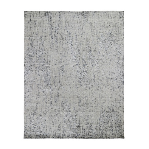 Gray Fine jacquard Hand-Loomed Modern Wool And Silk Oriental Rug