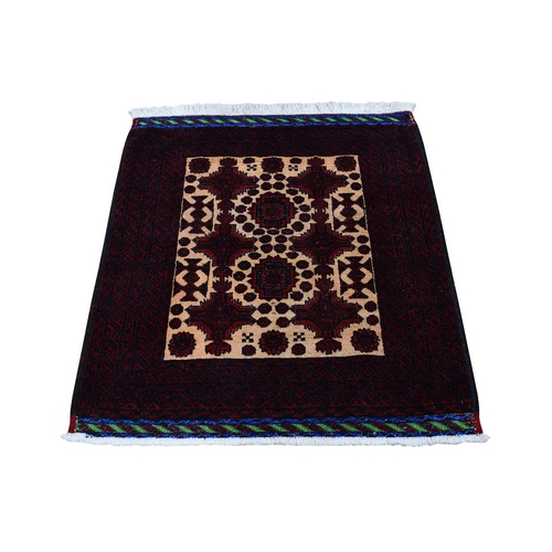 Square Afghan Baluch Pure wool Hand Knotted Oriental