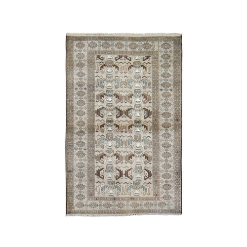 Washed Out Afghan Baluch Pure Wool Hand Knotted Oriental Rug