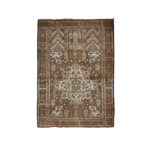 Washed Out With Natural Colors Tribal Hand Knotted Oriental Rug