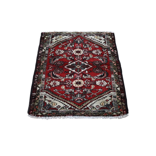 Red Antique Persian Hamadan Clean Pure Wool Hand Knotted Oriental