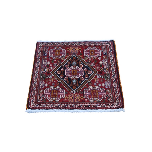 Red Vintage Persian Qashqai Nomad Vivid Exc Condition Pure Wool Hand Knotted Little Bohemian