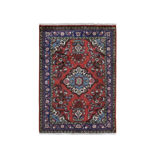 Red New Persian Lilihan Pure Wool Hand Knotted Oriental Rug
