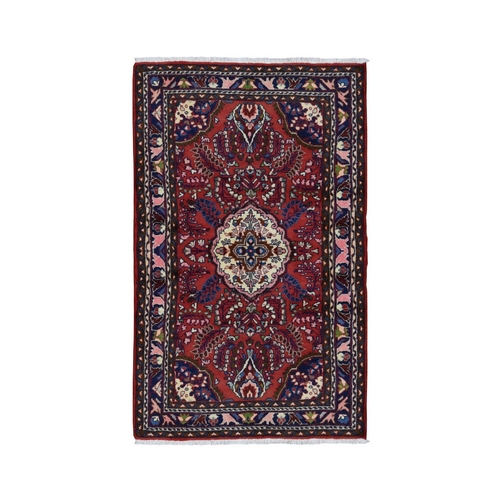 Red New Persian Lilihan Pure Wool Hand Knotted Bohemian Rug