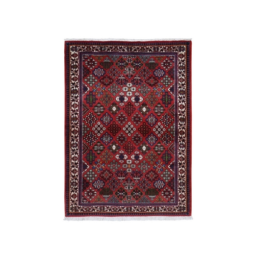 Red New Persian Joshagan Pure Wool Hand Knotted Bohemian Rug