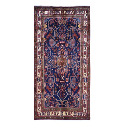 Blue Gallery Size North West Persian Pure Wool Hand Knotted Oriental