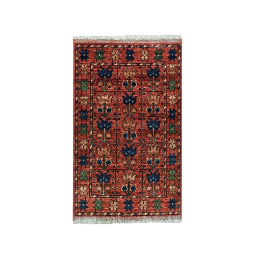 Afghan Ersari Pure Wool Hand Knotted Oriental