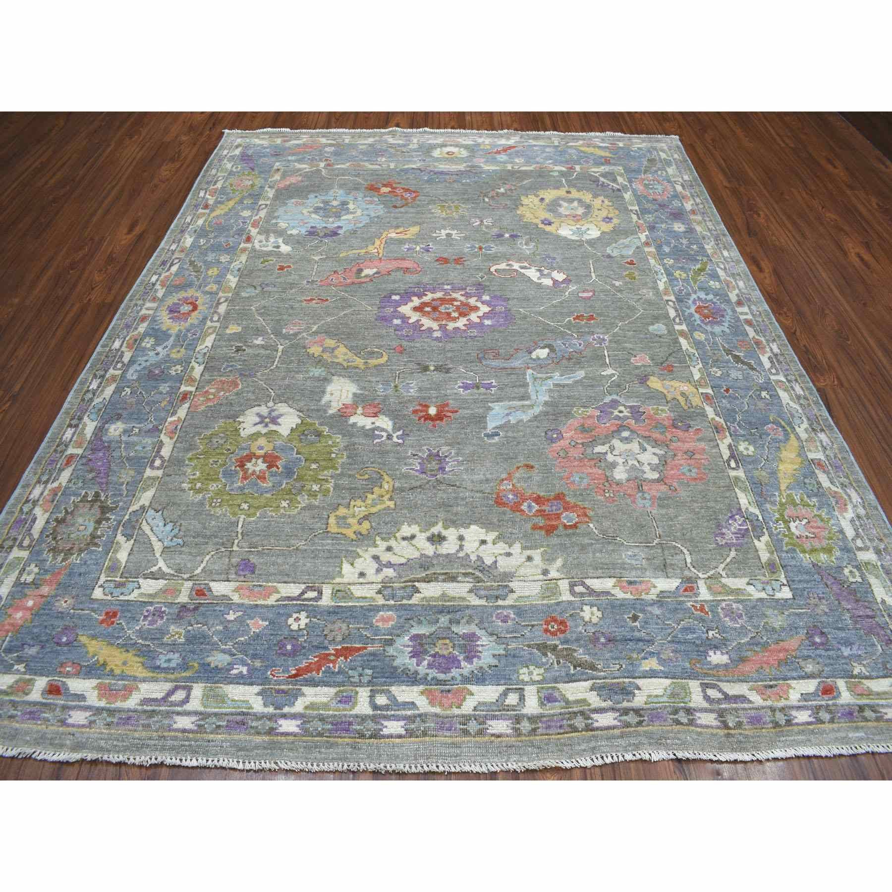 Oushak-And-Peshawar-Hand-Knotted-Rug-263450