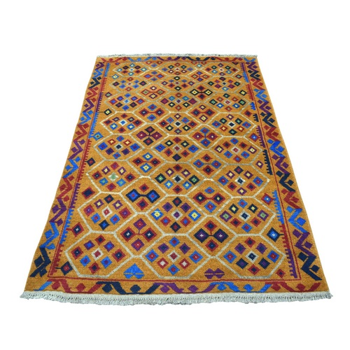Colorful Afghan Baluch Tribal Design Hand Knotted 100% Wool Oriental