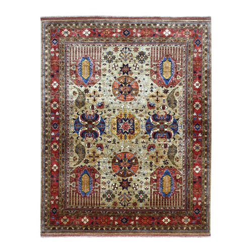 Afghan Ersari With Ancient Motifs Natural Dyes Hand Knotted Pure Wool Oriental