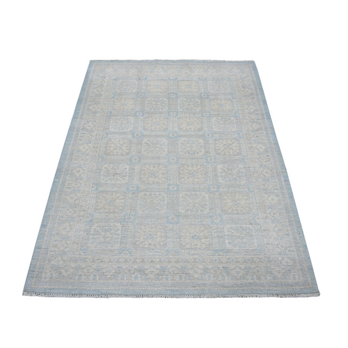 Samarkand With Khotan Repetitive Rossets Design Hand Knotted Oriental Rug
