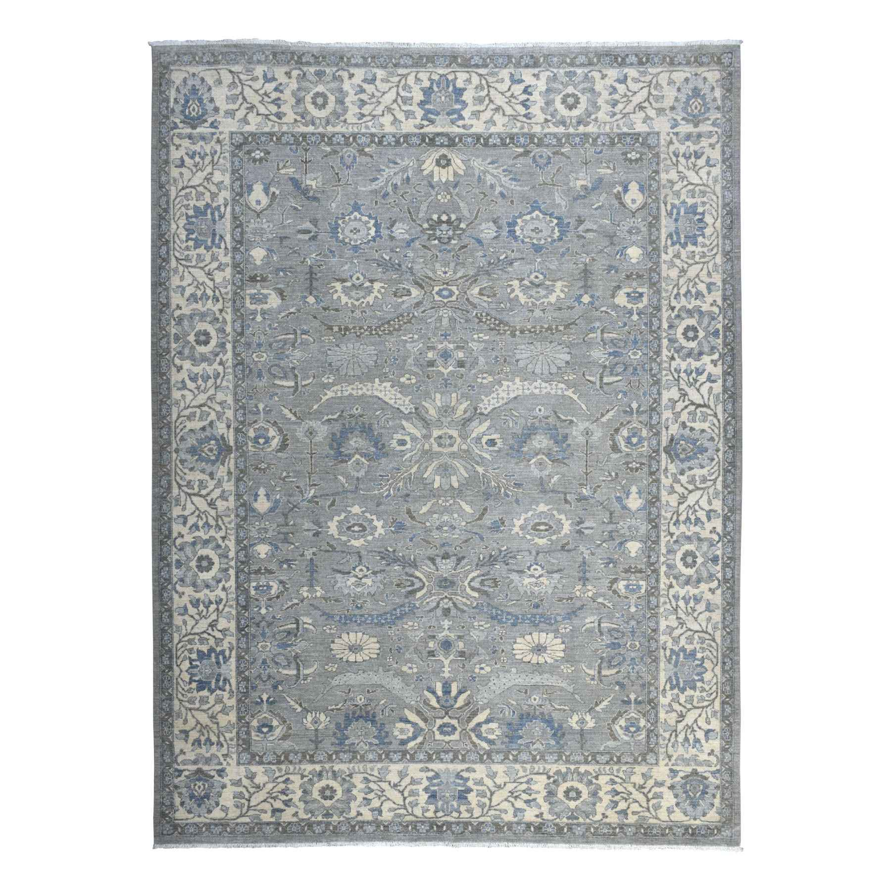 Oushak-And-Peshawar-Hand-Knotted-Rug-271040