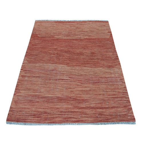 Sunset Shades Reversible Kilim Pure Wool Hand Woven Oriental