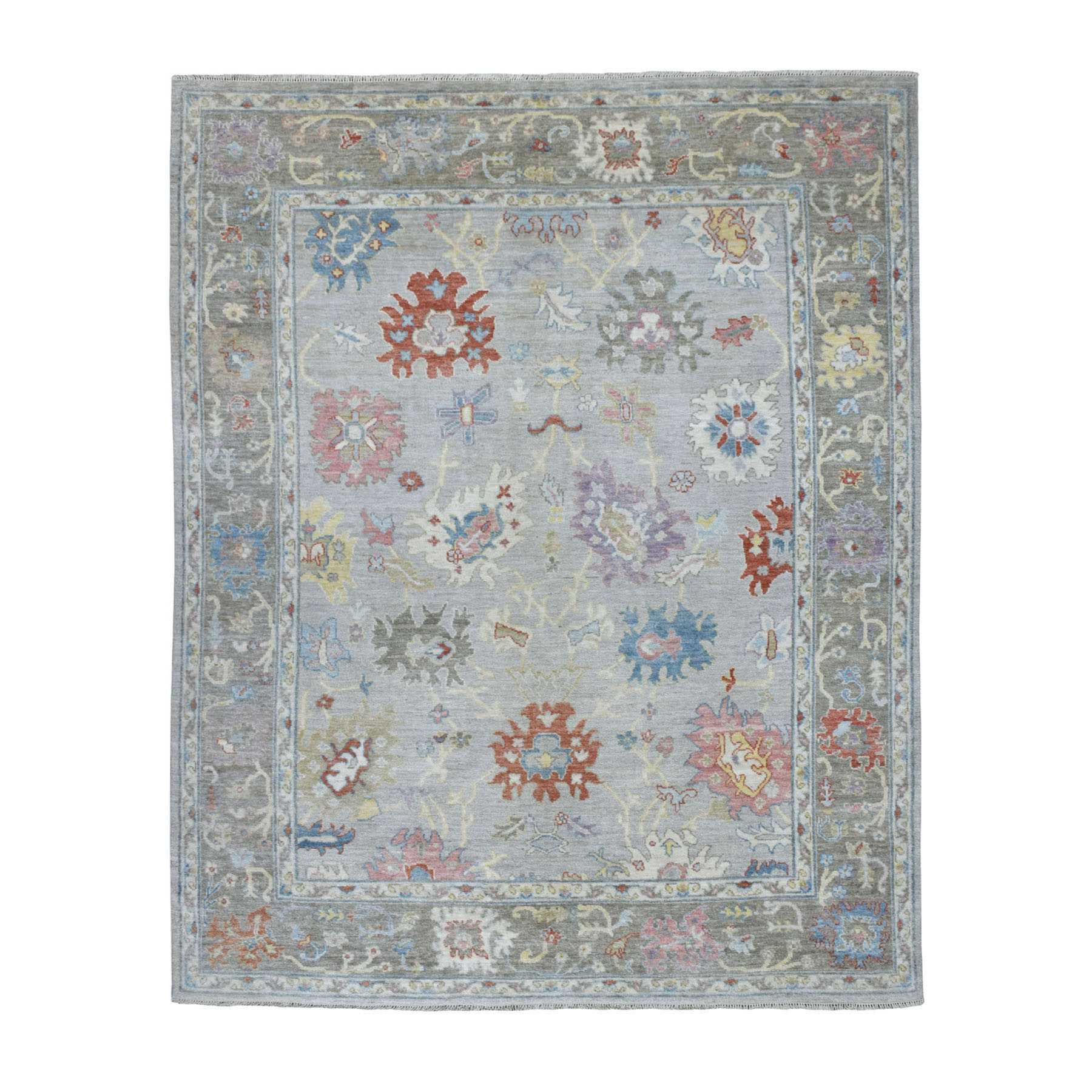 Oushak-And-Peshawar-Hand-Knotted-Rug-272825