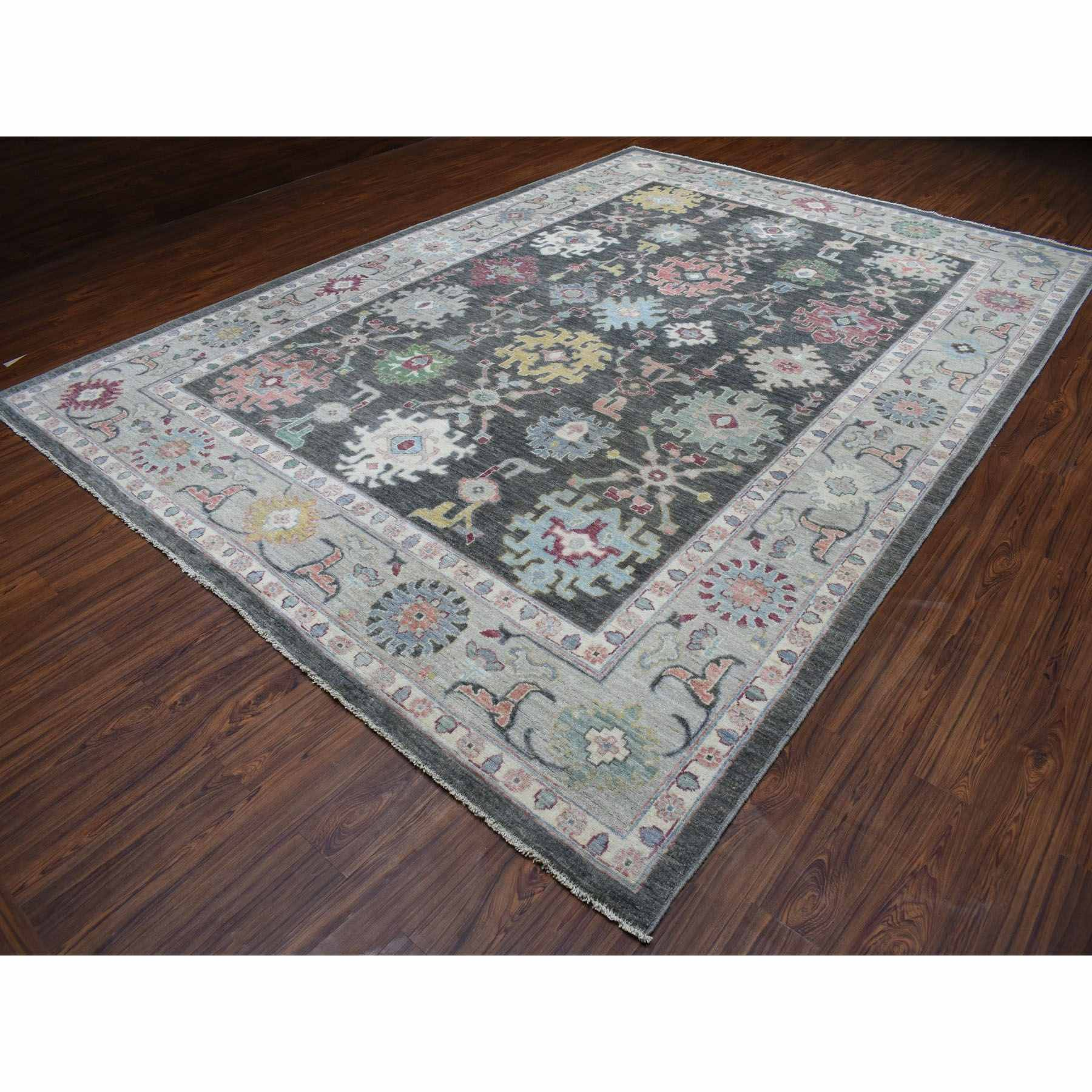 Oushak-And-Peshawar-Hand-Knotted-Rug-275560