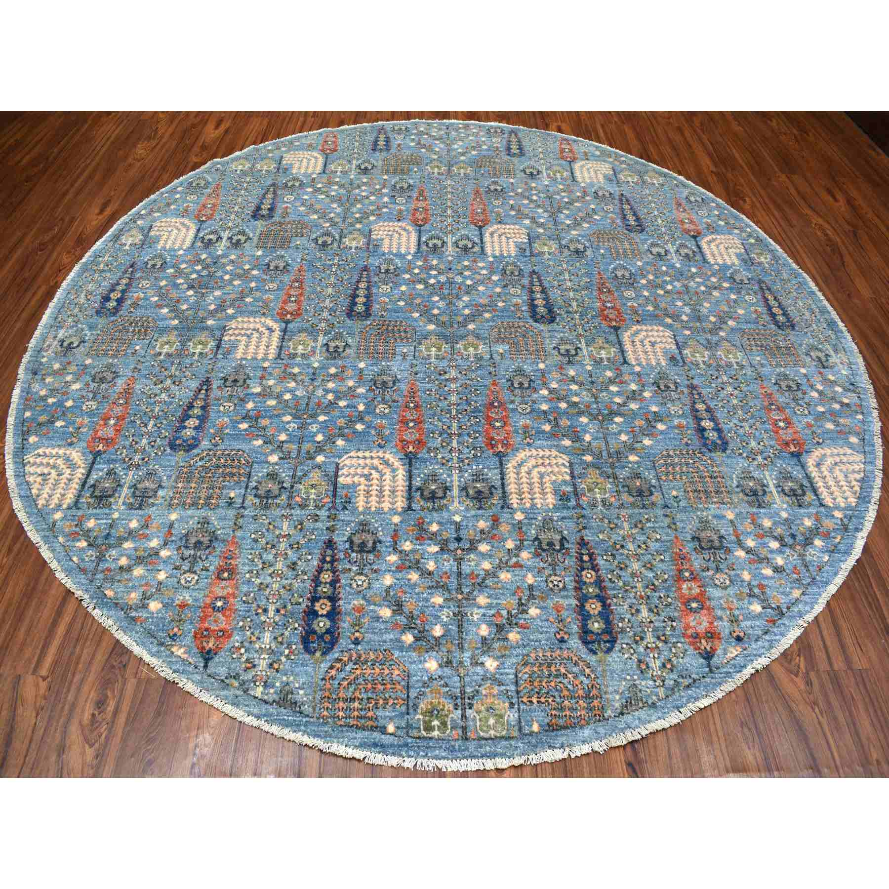Oushak-And-Peshawar-Hand-Knotted-Rug-279550