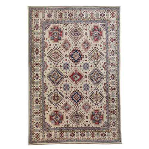 Ivory Special Kazak All Over Design Pure Wool Hand Knotted Oriental