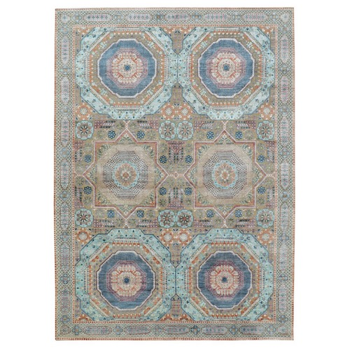 Silk With Textured Wool Mamluk Design Hand knotted Oriental Rug