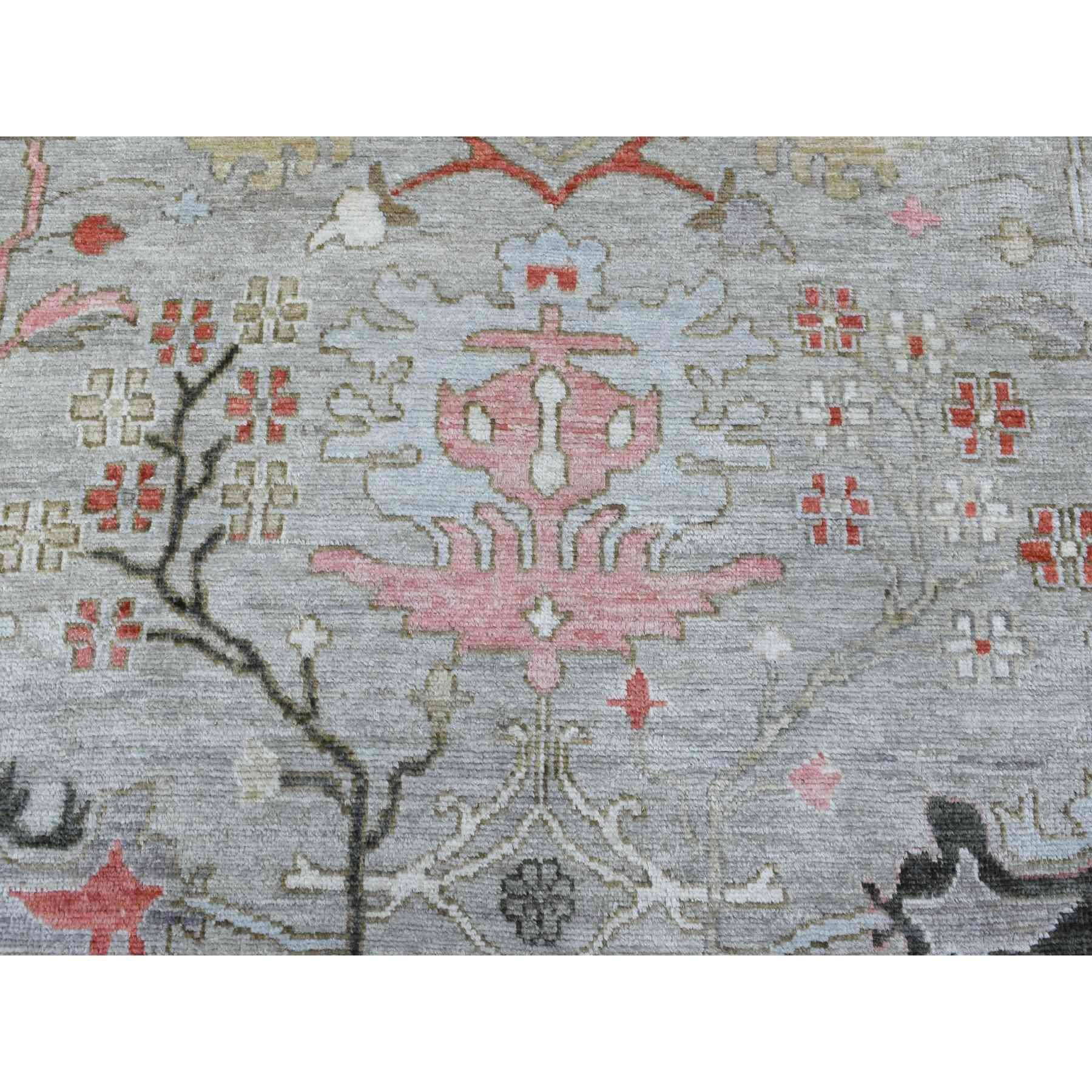 Oushak-And-Peshawar-Hand-Knotted-Rug-336615